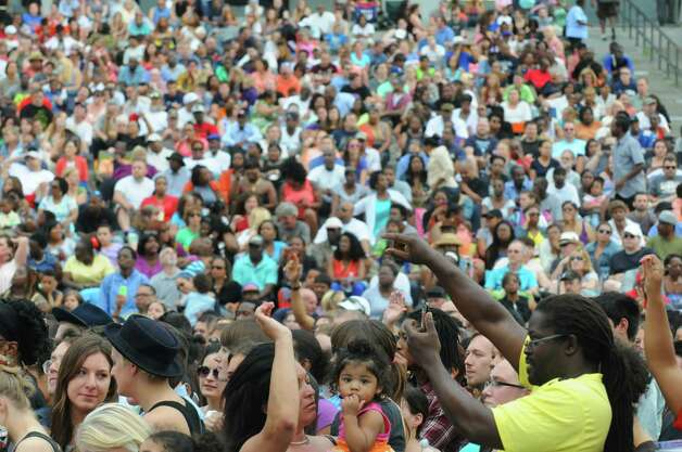 A packed crowd was in attendance as Shaggy and funk music great Bootsy Collins performed at the Empire State Plaza on Wednesday June 18, 2014 in Albany, N.Y.  (Michael P. Farrell/Times Union) Photo: Michael P. Farrell / 00027118A