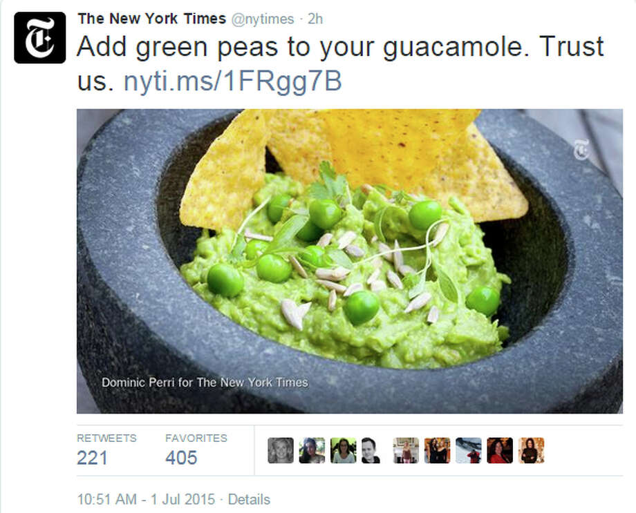 This tweet from the New York Times set loose an avalanche of outrage online. Photo: Twitter/nytimes