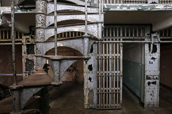 Cellblock A which is not open to the public, was used during the military era but was never part of the Federal Prison on Alcatraz Island in San Francisco, Calif., as seen on Wed. July 1, 2015.