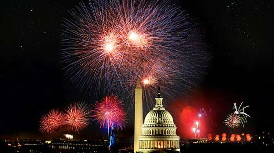 "July means fireworks! Watch the Fourth of July celebrations on TV and avoid the heat, mosquitos and possible rain. NBC will air the ""Macy's Fourth of July Fireworks Spectacular,"" ABC hosts Houston's celebration: ""Freedom Over Texas,"" and PBS will air ""A Capitol Fourth."" Photo: File"