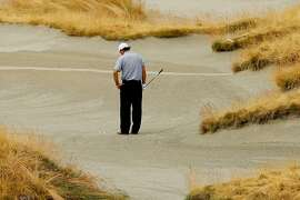 UNIVERSITY PLACE, WA - JUNE 18:  Phil Mickelson of the United States waits to play a shot on the 14th hole during the first round of the 115th U.S. Open Championship at Chambers Bay on June 18, 2015 in University Place, Washington.  (Photo by Andrew Redington/Getty Images)