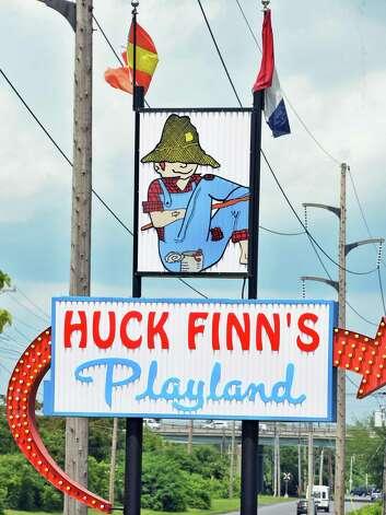 Huck Finn's Playland sign Wednesday July 1, 2015, Albany, NY.  (John Carl D'Annibale / Times Union) Photo: John Carl D'Annibale / 00032437A