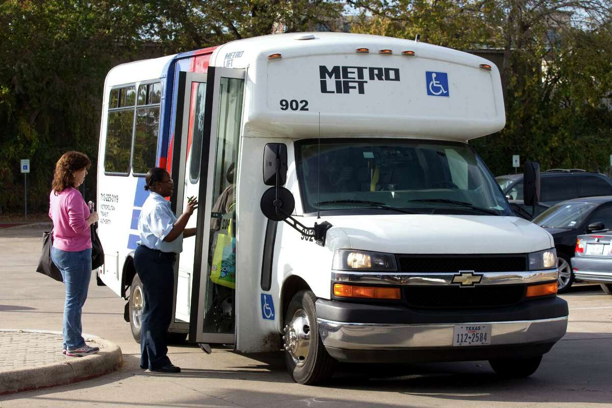 Transit agencies are required by the Americans with Disabilities Act to provide paratransit service to any eligible riders within three quarters of a mile of existing bus stops. ( Brett Coomer / Houston Chronicle )
