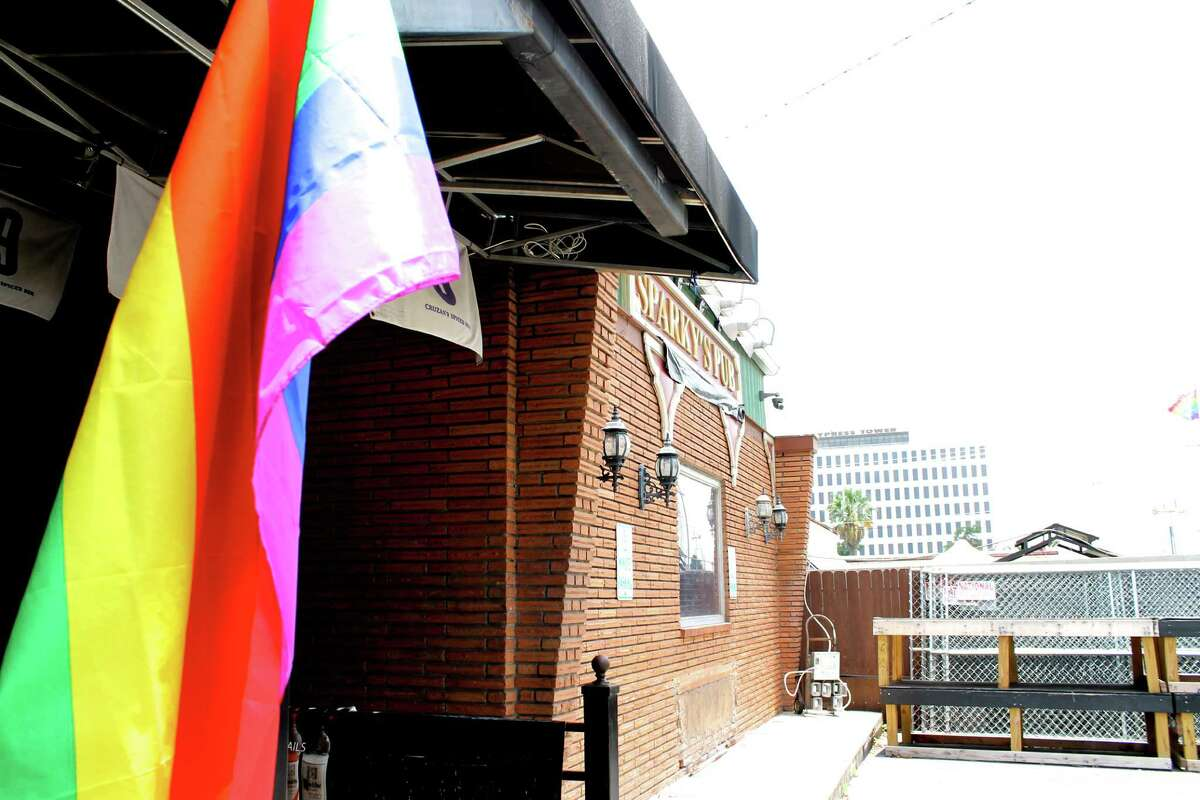 A rainbow flag hangs outside Sparky's Pub June 29, three days after the Supreme Court's historic decision to make same-sex marriage legal in all 50 states.