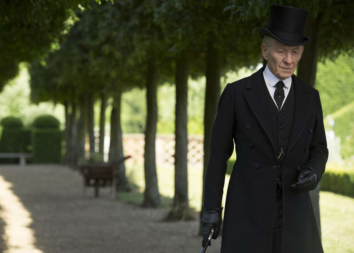 """Sir Ian McKellen plays Sherlock Holmes in his 50s, unexpectedly heading for the end of his career, and in his 90s, trying to piece together what happened. """"Mr. Holmes"""" opens July 19. Photo Credit: Giles Keyte, Courtesy of Miramax and Roadside Attractions."""