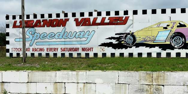 The sign on the exterior wall of the Lebanon Valley Speedway Wednesday afternoon, July 1, 2015 in Lebanon Valley, N.Y. Shawn Rivers, 43, of Castleton was driving a Winnebago motor home in a demolition derby when he was killed Tuesday night after his vehicle was hit by a car and rolled over on the track.  (Skip Dickstein/Times Union) Photo: SKIP DICKSTEIN / 00032465A