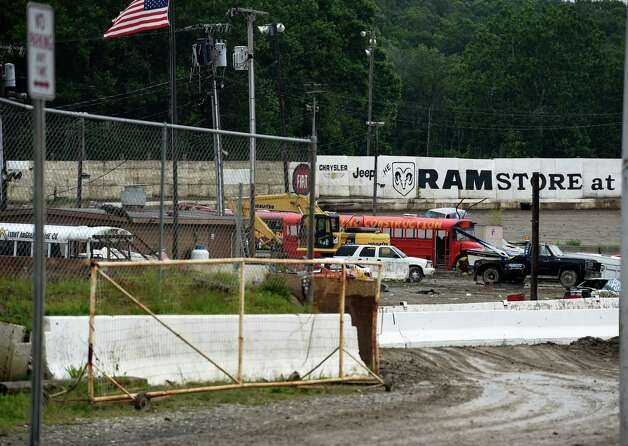 View of the infield from outside the gate of the Lebanon Valley Speedway Wednesday afternoon July 1, 2015 in Lebanon Valley, N.Y.     (Skip Dickstein/Times Union) Photo: SKIP DICKSTEIN / 00032465A