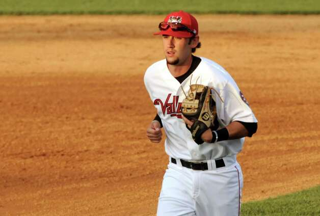 Cat's shortstop Keach Ballard during the Tri-City ValleyCats game against the Vermont Lake Monsters at Joe Bruno Stadium on Wednesday July 1, 2015 in Troy, N.Y.  (Michael P. Farrell/Times Union) Photo: Michael P. Farrell / 00032413A