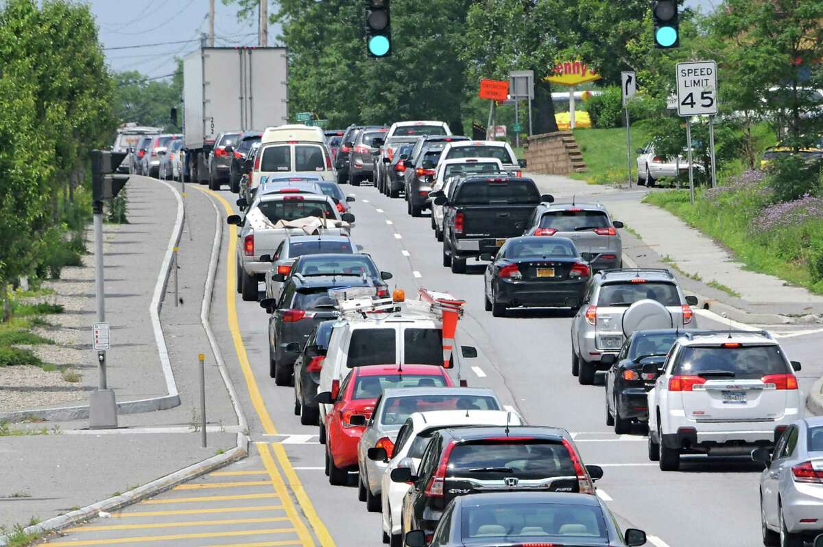 Traffic is heavy leading up to the new Sonic restaurant westbound on Rt. 7 Troy Schenectady Rd. on Wednesday, July 1, 2015 in Latham, N.Y. (Lori Van Buren / Times Union)