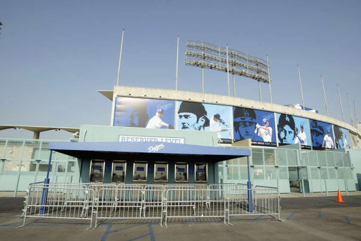 LOS ANGELES - MAY 18: An exterior view of Dodger Stadium on May 18, 2003 in Los Angeles, California.
