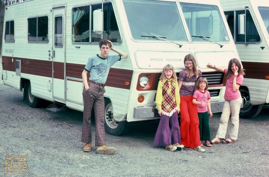 1976 road trip from New York to Disneyworld. Ah, fashion! Photo: Awkward Family Photos