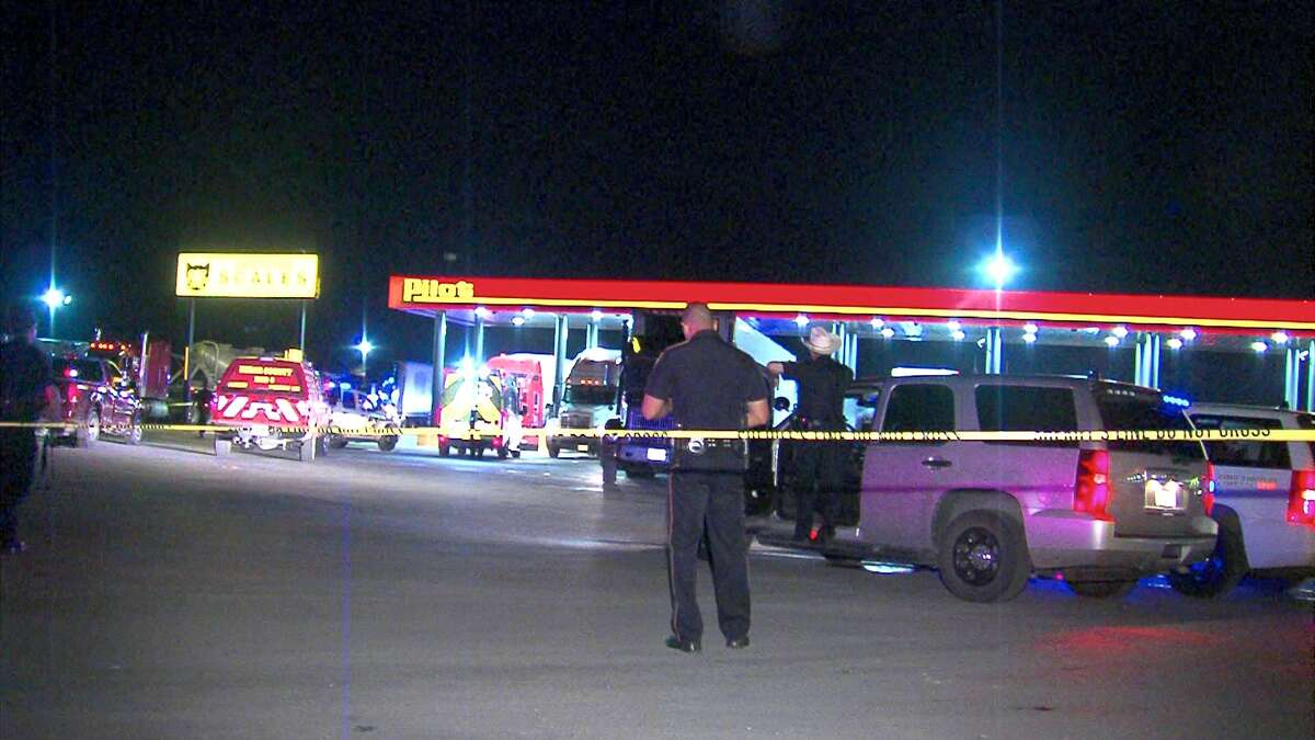 A 1-year-old boy was run over by and 18-wheeler Wednesday night at a truck stop on the Southwest Side.