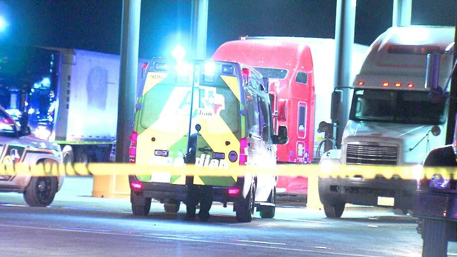A 1-year-old boy was run over by and 18-wheeler Wednesday night at a truck stop on the Southwest Side. Photo: 21 Pro Video