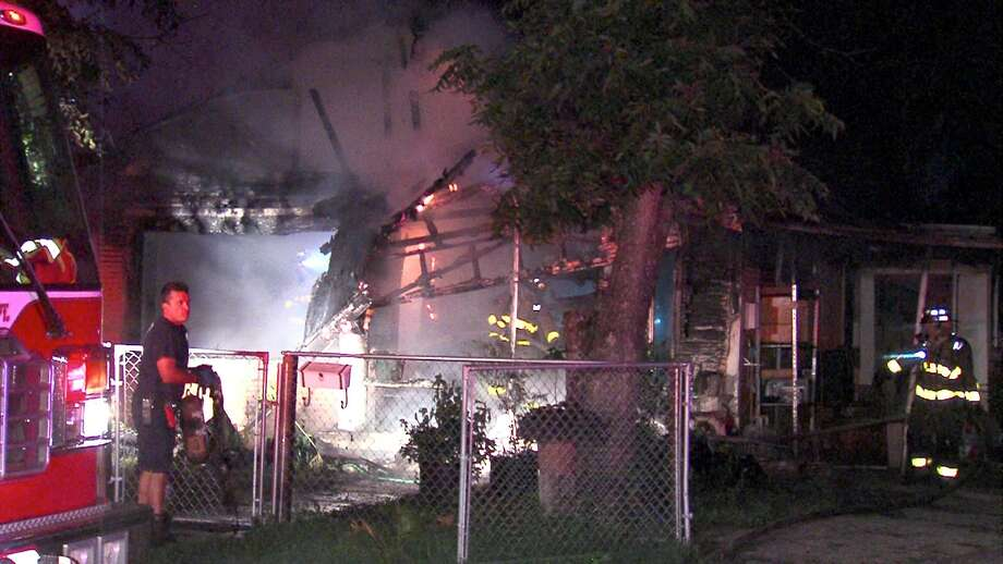 A fire gutted a home on the East Side Thursday morning. Photo: 21 Pro Video