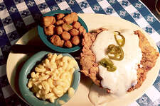 Recently recognized as one of the Top 10 Best Chicken Fried Steak's in Texas but Radicke's Bluebonnet Grill has much more to satisfy your appetite.  On Wednesday's from 7am till 10am (inside only), they serve a full Breakfast Menu including omelets, pancakes to biscuits and gravy. Everyday the drive-thru has breakfast tacos and sandwiches available from 7am – 10am and the restaurant is open for lunch from 10:30am till 2:30pm. Home of the Jalapeno Fried Chicken, Radicke's will have you coming back for more. Visit us on Facebook:   Radickes Bluebonnet Grill.   237 N.W.W. White Rd.  San Antonio, TX 78219  210-337-4007