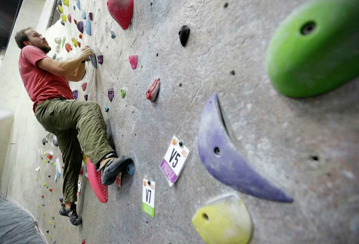 Rock Climbing: For a couple looking for a little adventure without all of the dangers, heading to a rock climbing gym is perfect.