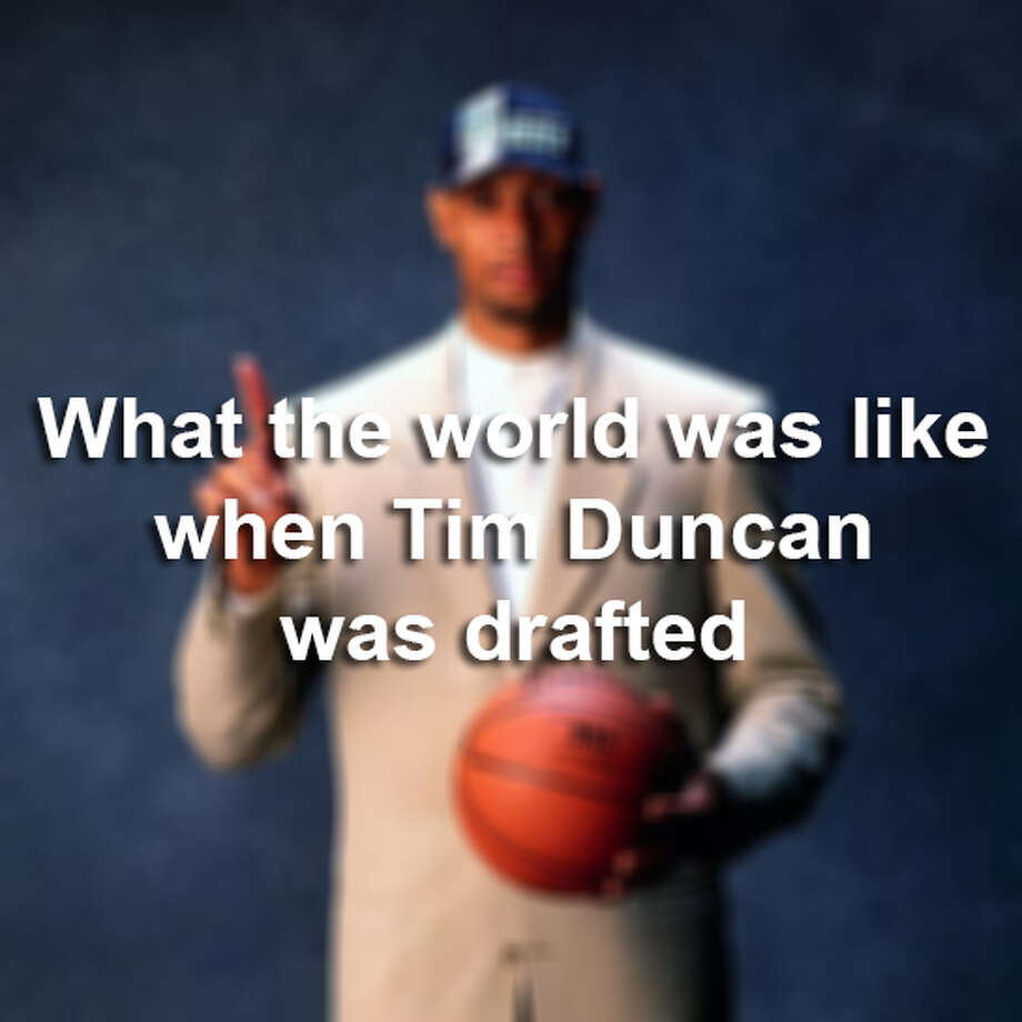 Eighteen years ago, this baby face was just a Wake Forest grad with no championship rings to his name. But, he was the No. 1 draft pick of 1997. Click through the following gallery to see what the world looked like when Tim Duncan became a Spur.