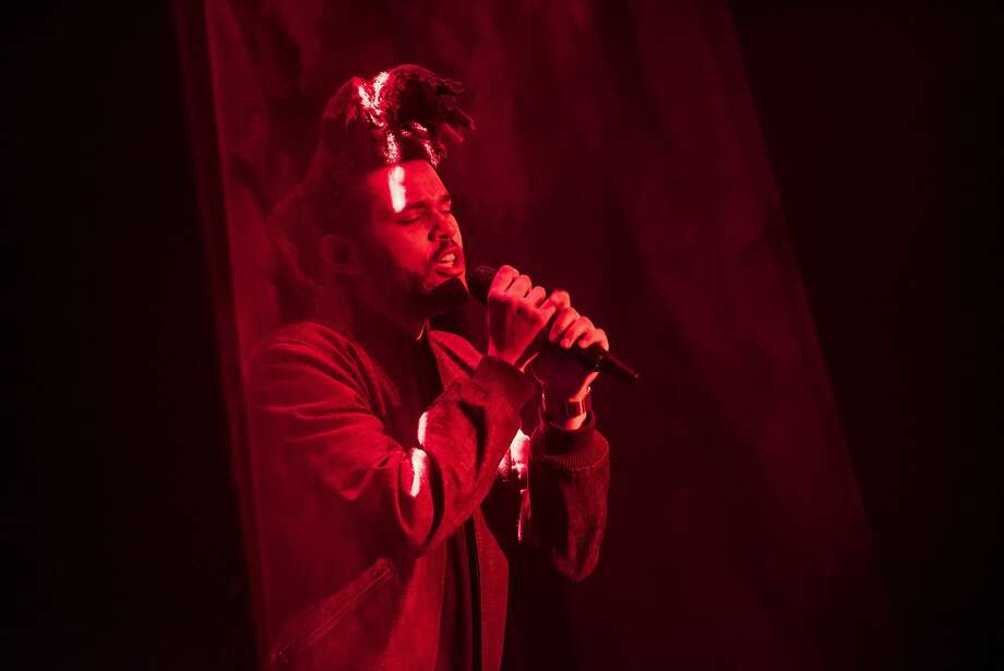 The Weeknd performs during June's Apple World Wide Developers Conference in San Francisco, where its revamped streaming-music service was unveiled. Photo: David Paul Morris, Bloomberg