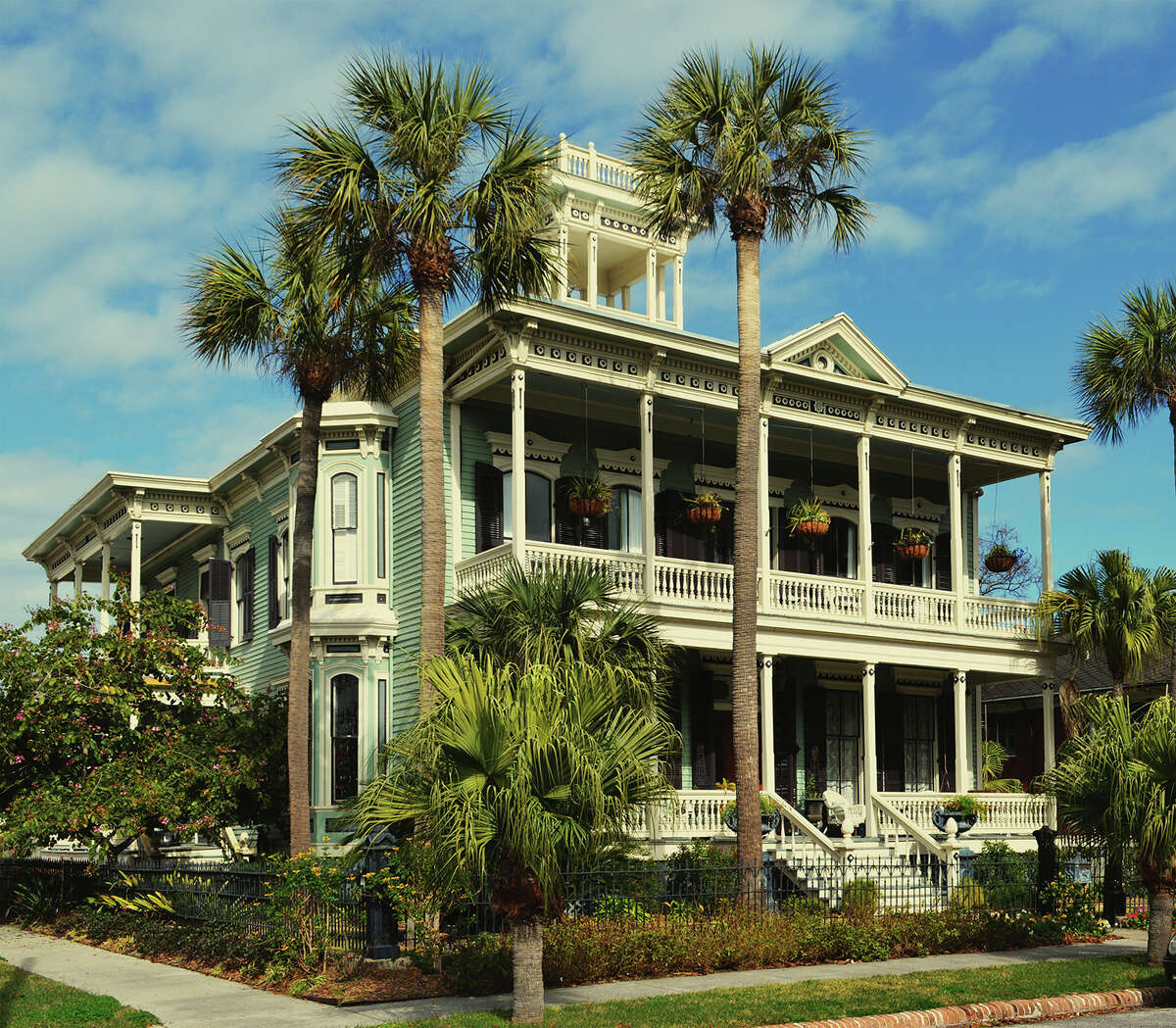 Thomas.J. Overmire's most significant residential work is the grand-scaled, five-bay, center hall plan 1875 Julius and Elizabeth Ruhl House. Designed for Julius Ruhl, bookkeeper for the Kaufmann & Runge Company, wholesale grocers and cotton exporters, the house is one of the most notable properties in the Galveston East End Historic District. The Ruhl family maintained ownership of the property until 1962; Chuck and Debbie Morris live there now, and restored it to former glory.
