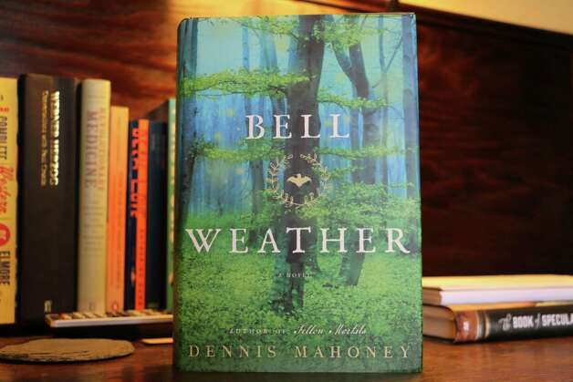 """A copy of Dennis Mahoney's """"Bell Weather,"""" set to be released on July 7, 2015, sits on a table inside his home on Friday, June 26, 2015, in Troy, N.Y. (Olivia Nadel/ Special to the Times Union) Photo: ON / 00032395A"""