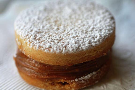 Alfajores (shortbread cookies with caramel filling)