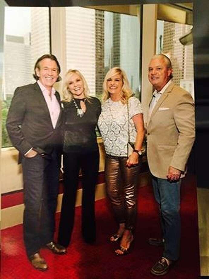 Enjoying a moment after a Bonnie Raitt show are (left to right) Peter Remington, Karen DeGeurin, JDR's Vicki Lehner and her husband, Bill.