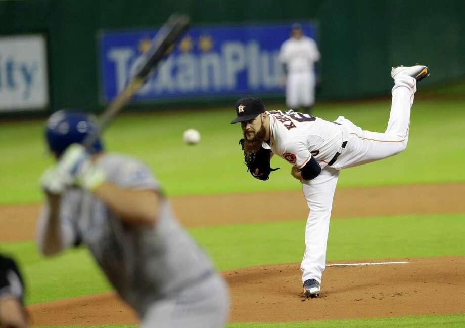 Houston Astros' Dallas Keuchel delivers a pitch against the Kansas City Royals on June 30, 2015, in Houston. Photo: Pat Sullivan /Associated Press / AP