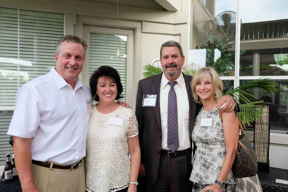 Among the guests at the kickoff were Phil and Rose Davis, left, with Bruce and Debbie Mercer. Photo: Courtesy