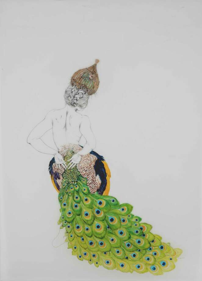 """""""Juno's Creatures,"""" a graphite and oil on mylar from American artist Fay Ku. Photo: Contributed Photo / Stamford Advocate Contributed"""