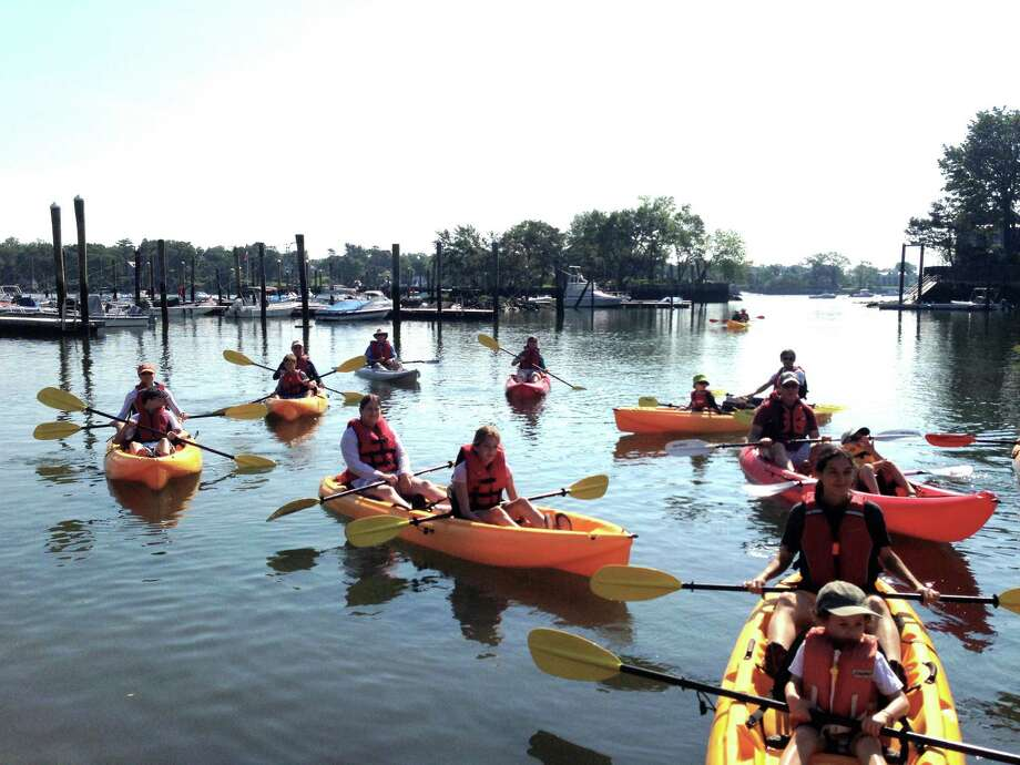 On July 11 from 10 a.m. to 2 p.m., the Greenwich Land Trust will hold a kayak trip to explore Shell Island. Kayakers will paddle from Byram Beach, 281 Byram Shore Road., and can take guided tours of neighboring Calf Island. Photo: Contributed Photo / Greenwich Citizen
