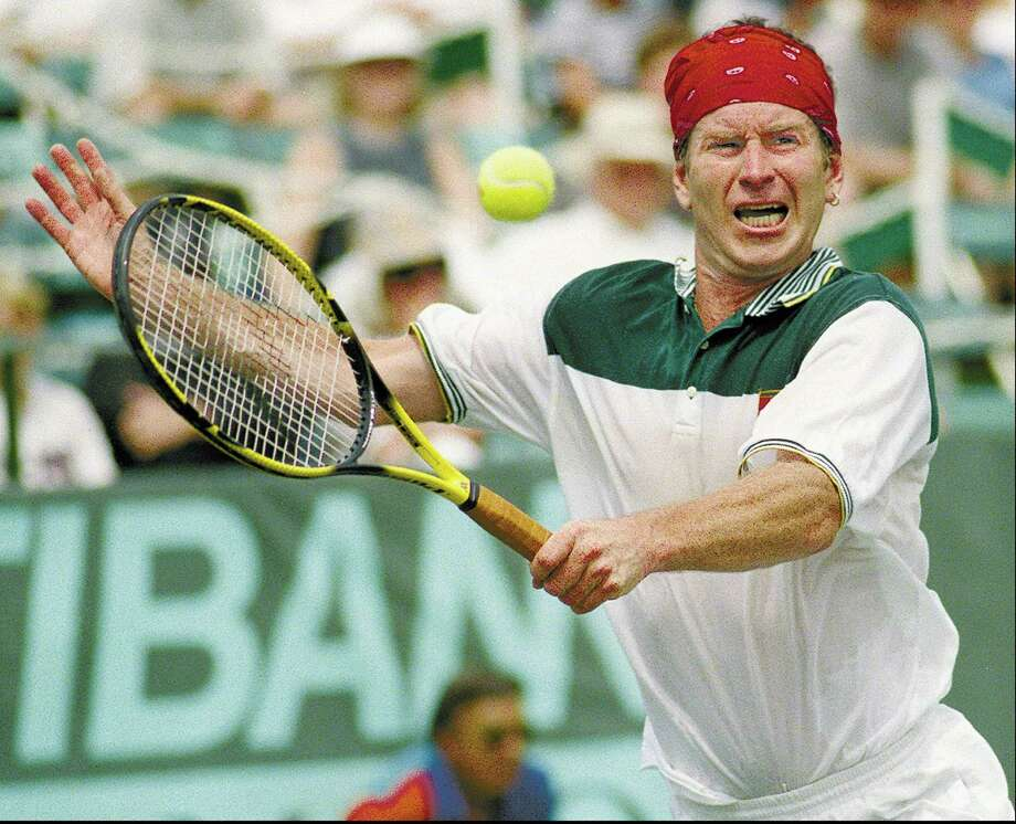 John McEnroe playing at Manhattanville College in Purchase, New York, in 1998. Photo: Staff File Photo