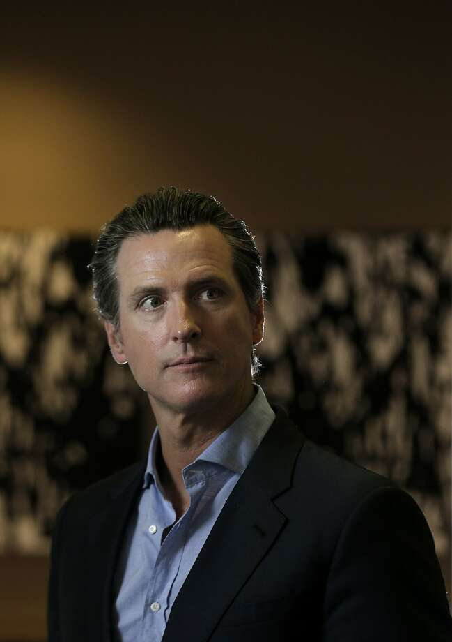 California Lt. Governor Gavin Newsom at Founders Den where he has an office space in San Francisco, Calif., on Thursday, July 2, 2015. Photo: Carlos Avila Gonzalez, The Chronicle