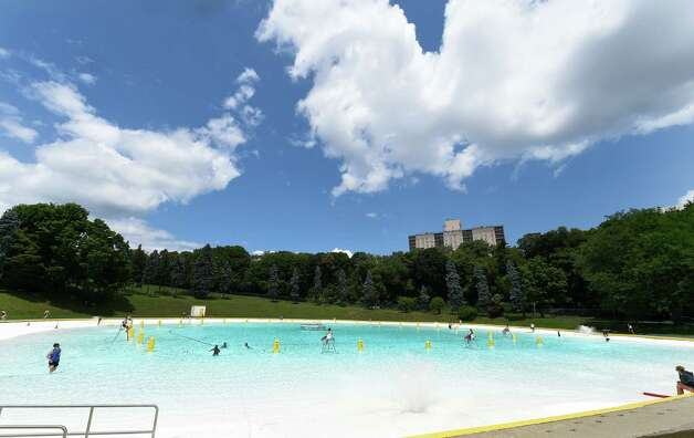 The Lincoln Park Pool is open for business Thursday afternoon, July 2, 2015 in Albany, N.Y.   (Skip Dickstein/Times Union) Photo: SKIP DICKSTEIN