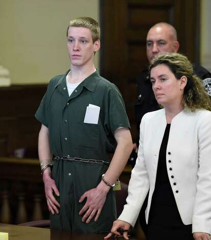 David Stanley stands with his attorney Danielle Neroni Reilly during his arraignment on murder charges Thursday morning, July 2, 2015, in Rensselaer County Court in Troy, N.Y.  (Skip Dickstein/Times Union) Photo: SKIP DICKSTEIN / 00032477A