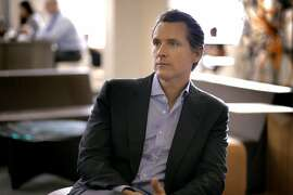 California Lt. Governor Gavin Newsom at Founders Den where he has an office space in San Francisco, Calif., on Thursday, July 2, 2015.
