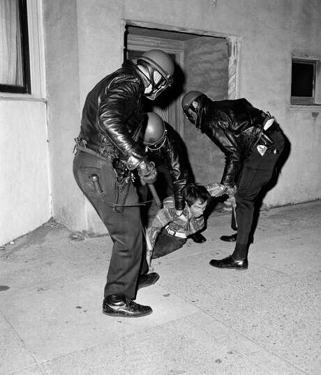 Police arrest a demonstrator during a disturbance in the Haight-Ashbury neighborhood on July 18, 1968. Photo: Sal Veder / Sal Veder / Associated Press 1968 / AP1968