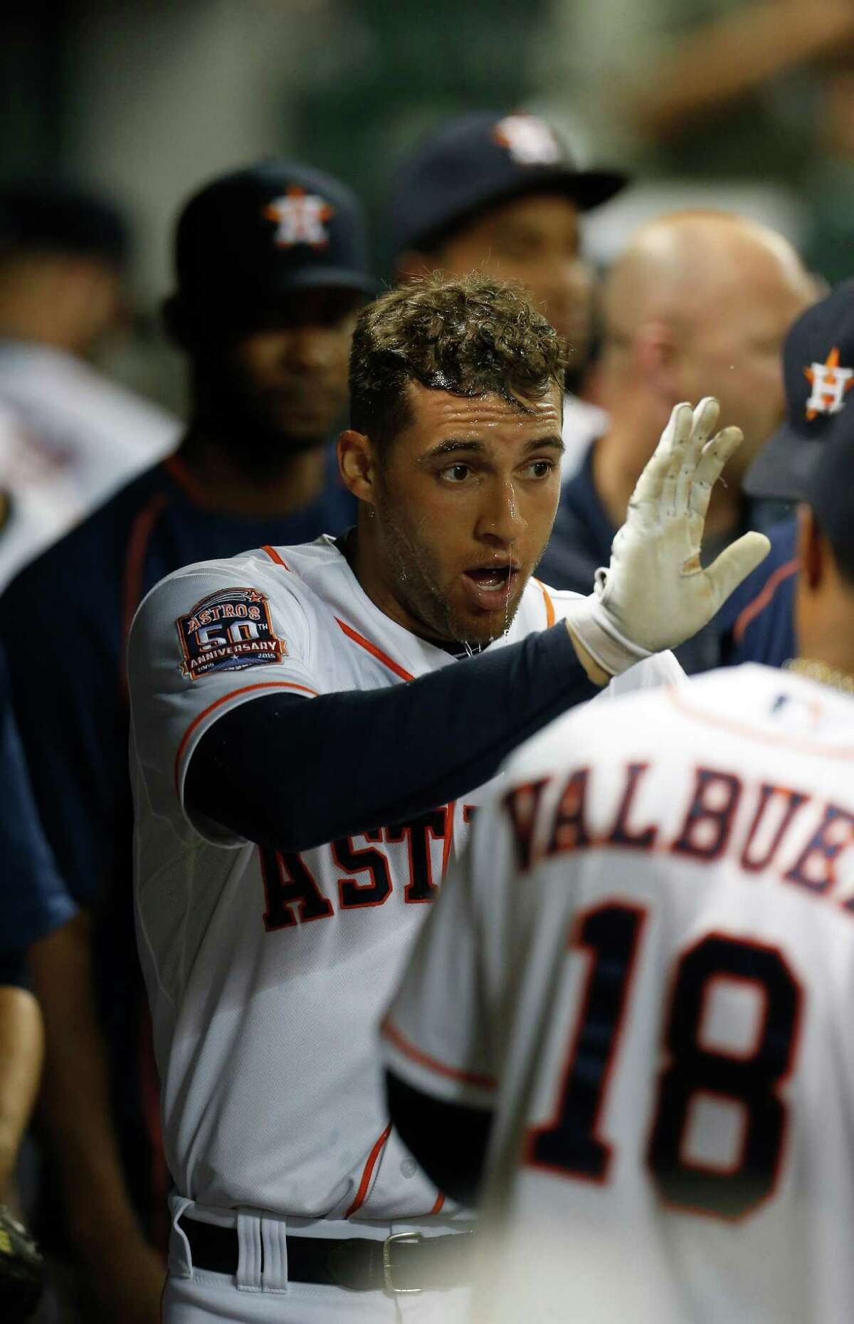 George Springer worked in the offseason to try to avoid another long layoff due to injury.