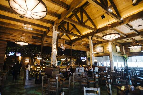 Pictured is the interior dining area of Jerry Nelson's Hill Country Wood Fired Grill on Wednesday afternoon. The grill is a new restaurant attached to the front of Jerry Nelson's Hill Country Backyard Music Hall, and is the focus of the cat5 Restaurant of the Week for July 2, 2015. Photo taken Wednesday 6/24/15 Jake Daniels/The Enterprise