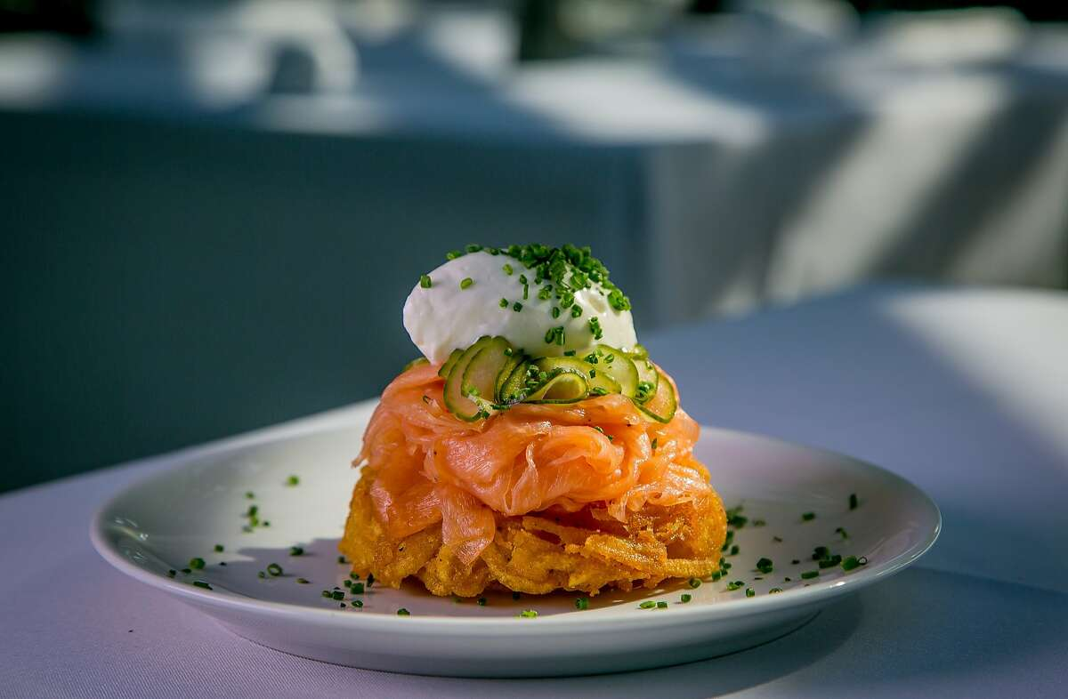 The smoked Salmon at Evangeline in Calistoga, Calif., is seen on July 2nd, 2015.