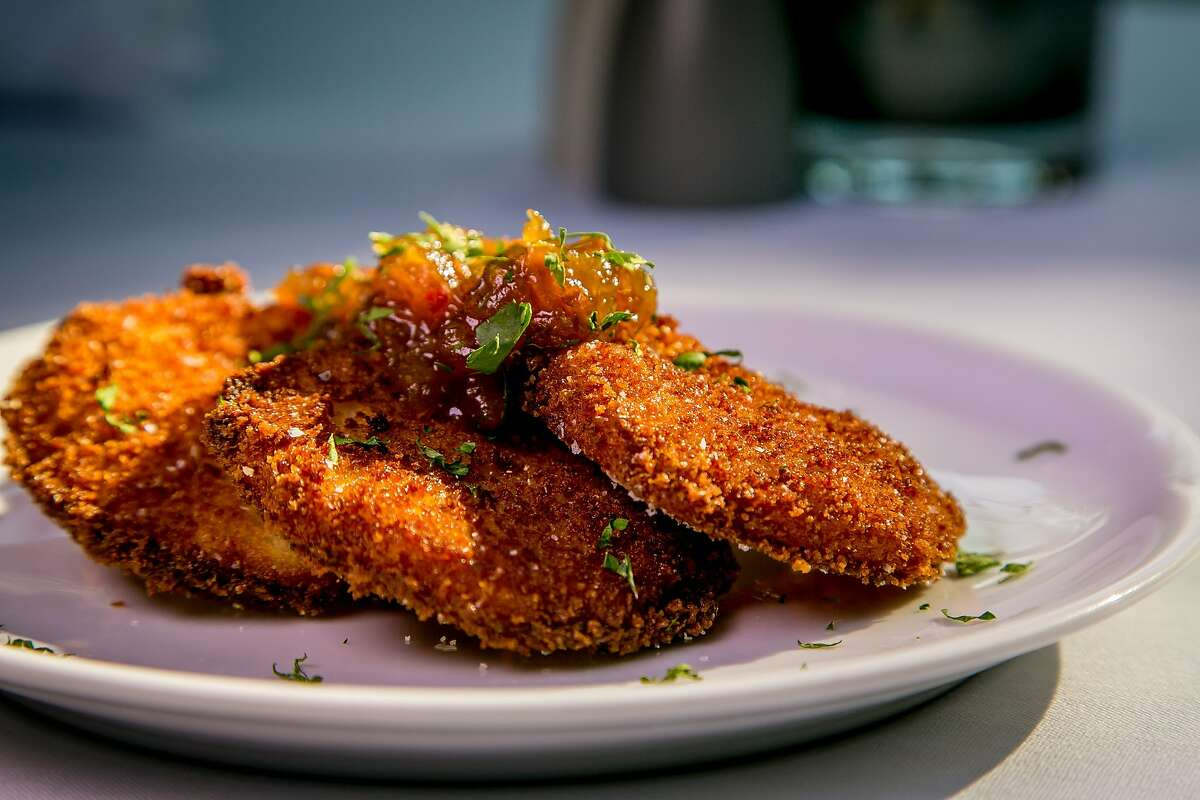 A rather idiosyncratic Southern dish, Alabama voters chose fried green tomatoes as their state's signature snack. Bayou Creole Kitchen & Rotisserie, 3412 17th St., SF. (415) 913-7766. www.bayousf.com