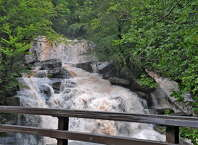 Water rushes over the Kaaterskill Falls in Haines Falls, N.Y. on Sept. 8, 2011. (Lori Van Buren / Times Union archive)