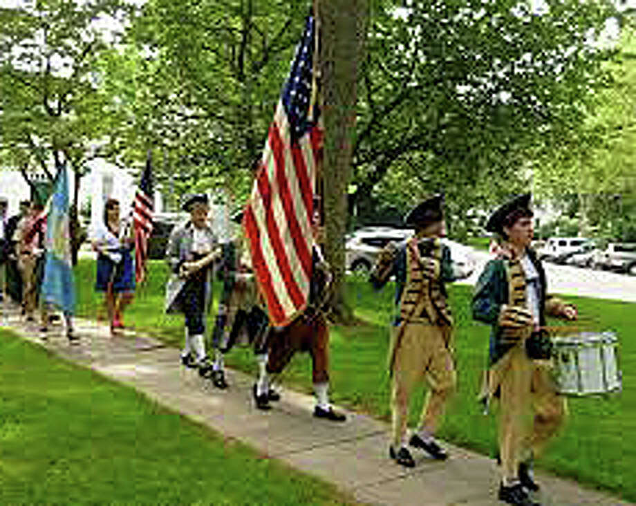 The Spirit of '76 will again be portrayed at the annual Independence Day program on Town Hall Green -- this year, set for 10 a.m. Saturday. Photo: File Photo / File Photo / Fairfield Citizen