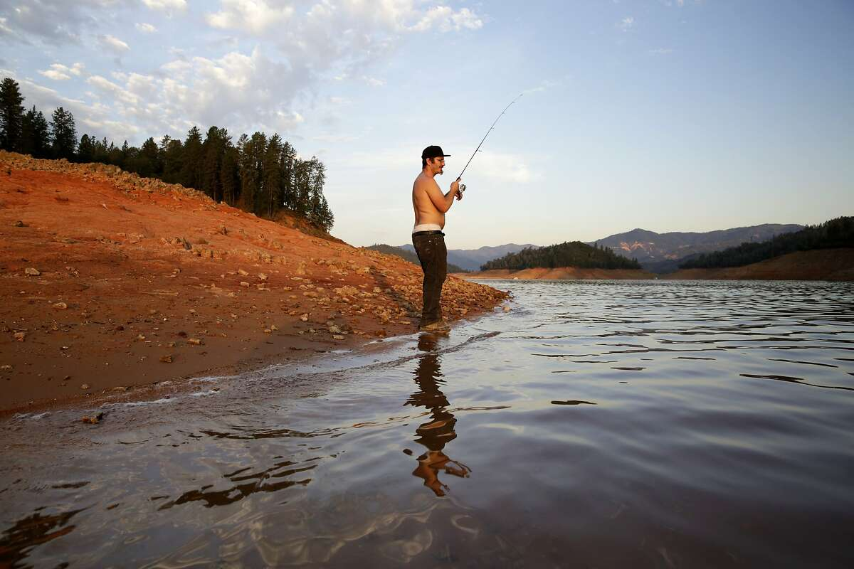 Will Epperson of Big Bend, CA, fishes on Lake Shasta, CA, on Thursday, July 2, 2015. Mercury levels in bass and catfish in Lake Shasta may be higher than reported in state fishing guidelines, posing a threat to human health.