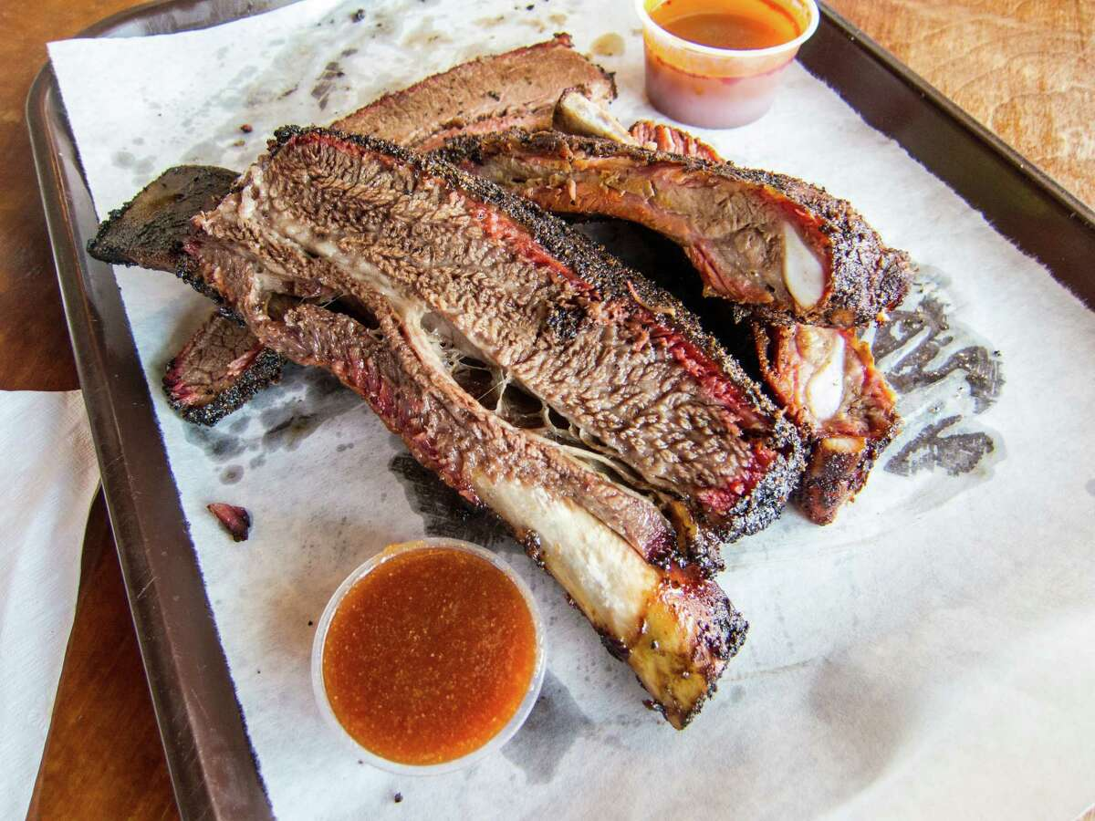 The beef ribs at Louie Mueller Barbecue in Taylor.