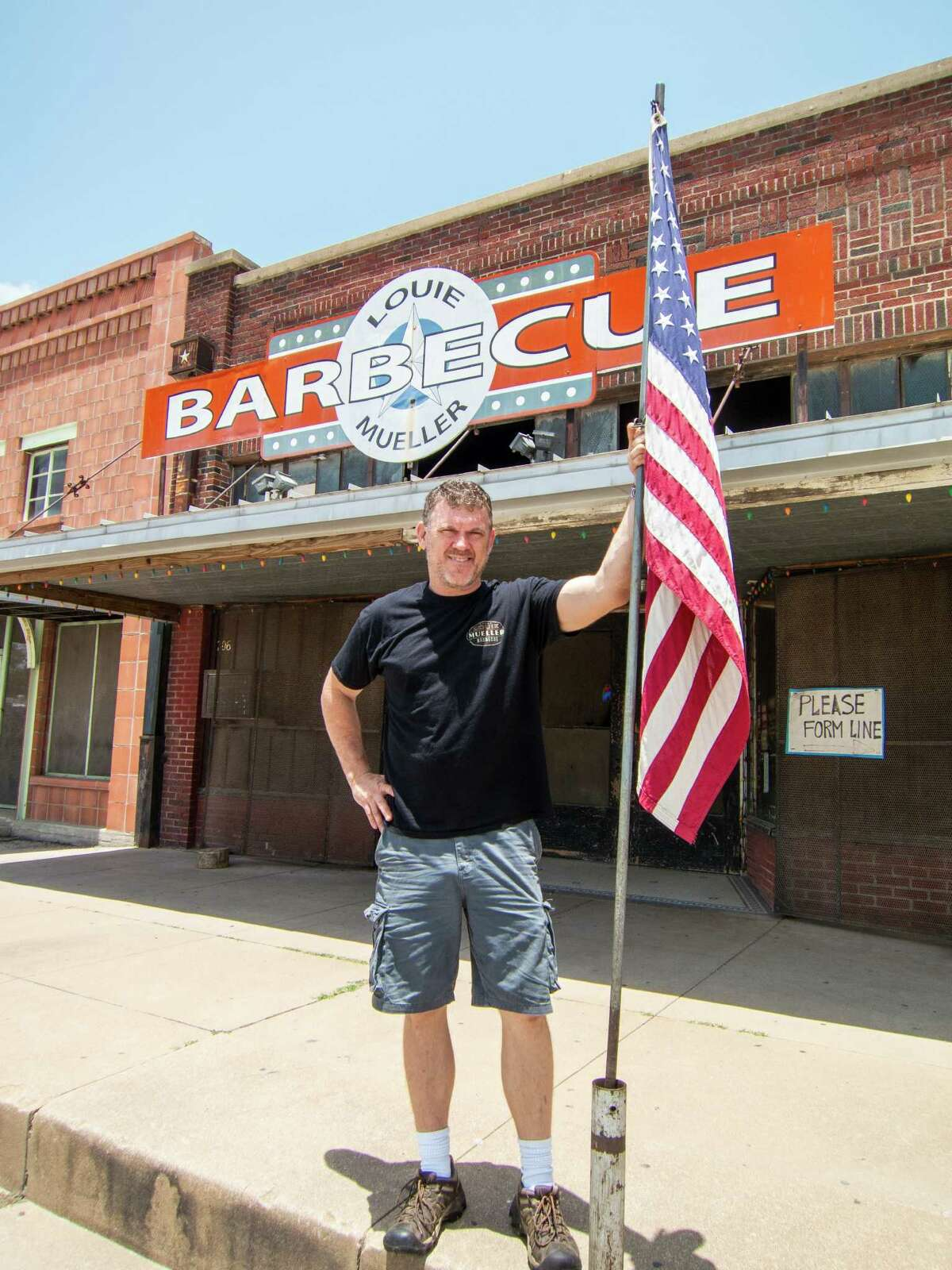 Wayne Mueller is a third-generation pitmaster at Louie Mueller Barbecue.
