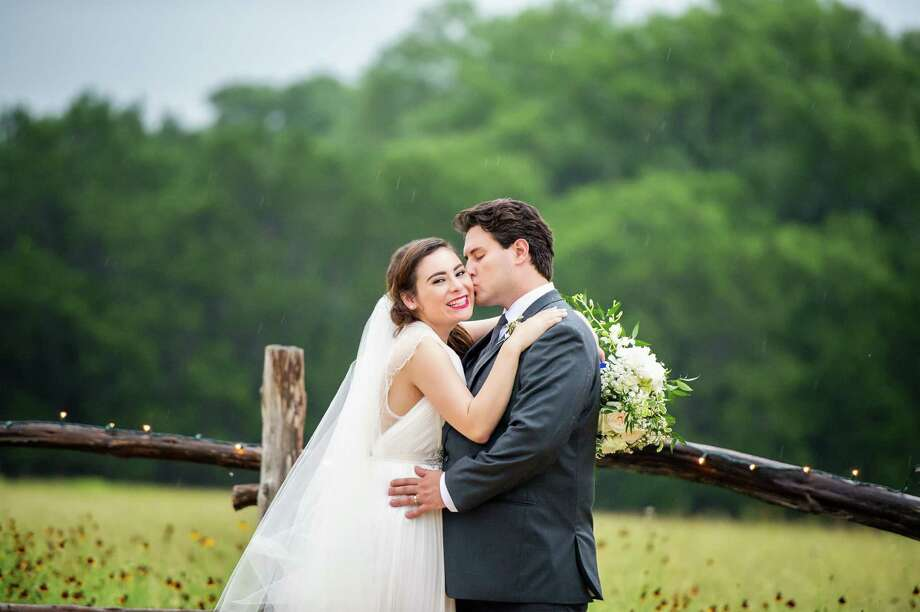 Jacqueline and Jason Altobelli on their wedding day in Wimberley. Photo: Svetlana Photography