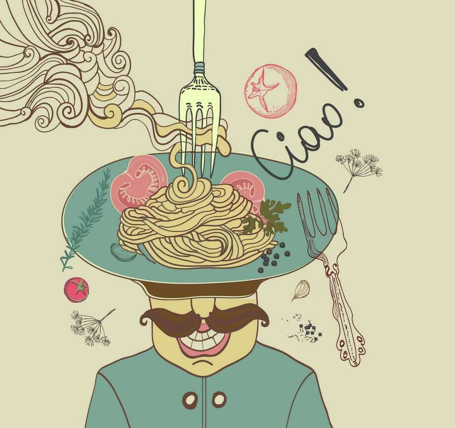 Italian pasta with tomato and chief cook man illustration Italian pasta with tomato and chief cook man illustration Photo: Jane Lane - Fotolia / Jane Lane - Fotolia