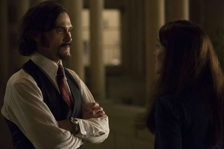 "Billy Crudup (Philip Zimbardo) and Olivia Thirlby (Christina Zimbardo) in Kyle Alvarez's ""The Stanford Prison Experiment."" Photo: IFC Films"