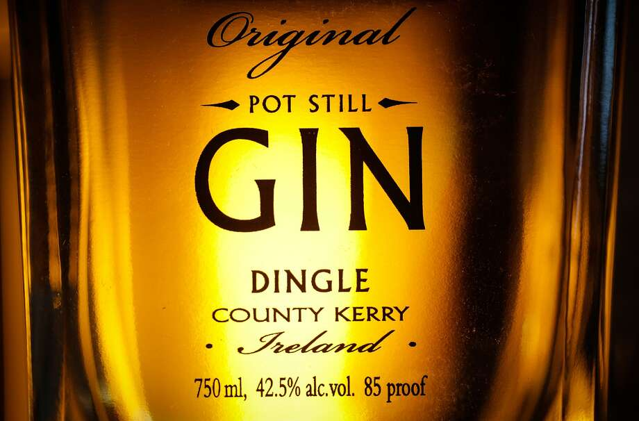 A bottle of Dingle Gin at Hotsy Totsy Club in Albany. Photo: Loren Elliott, The Chronicle