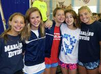 Greenwich YMCA divers Madelyn Seltzer, Casey Kirsch, Saylor Kirsch, Devon Ott and Lizzie Fitzpatrick.